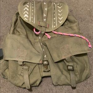 FREE PEOPLE Slouchy Army Backpack